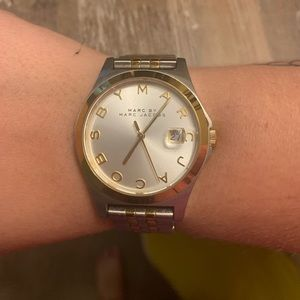 Marc Jacobs Gold and Silver Watch